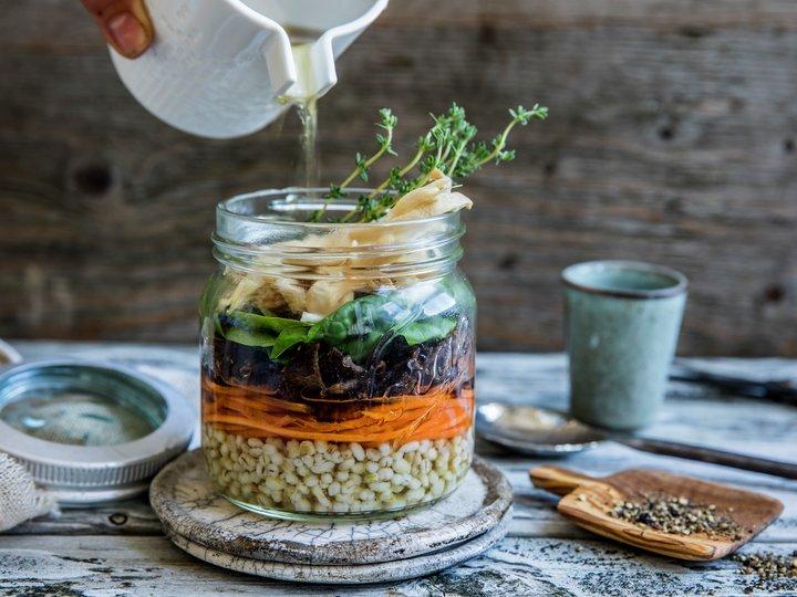 Reinsdyrsuppe på glass
