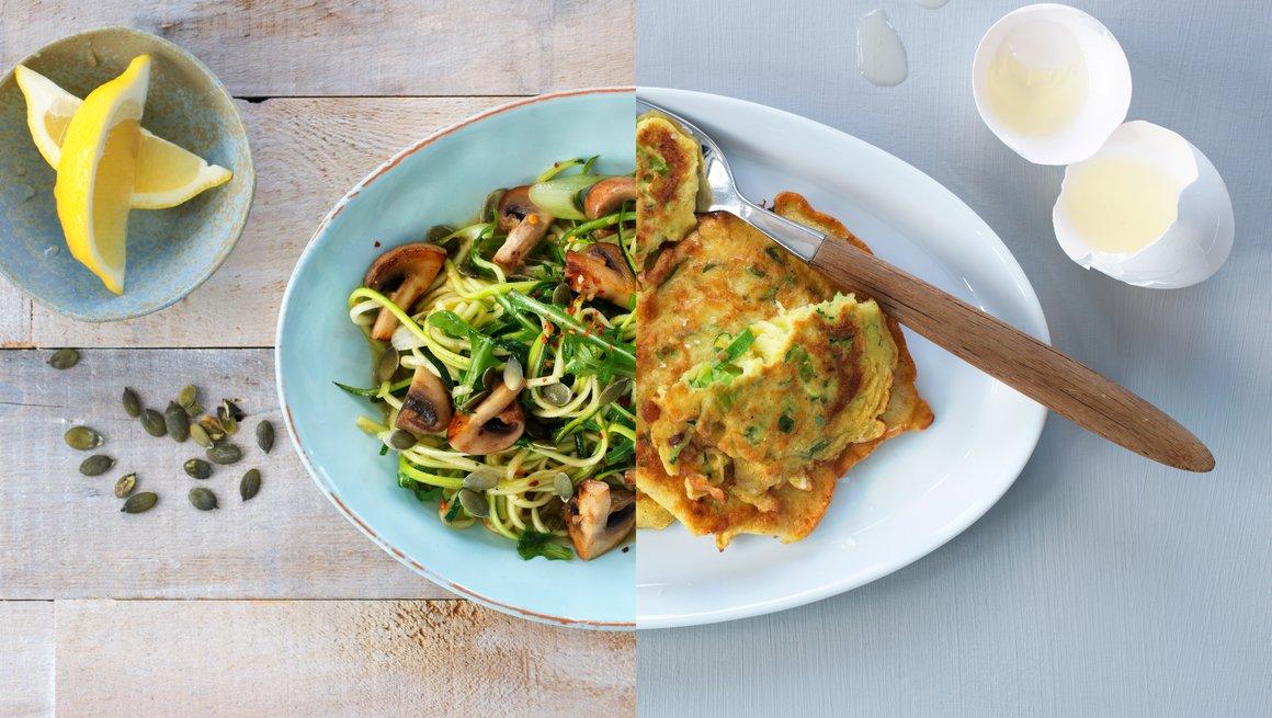 Grønnsakslapper og Grønnsakspagetti
