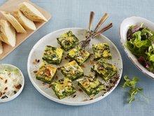 Frittata med spinat og parmesan