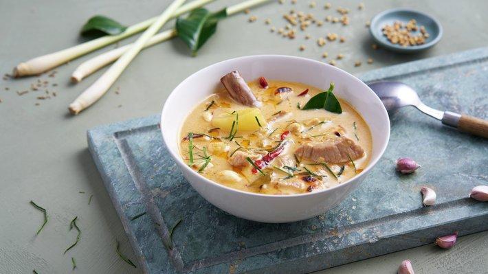 Massaman curry med svin
