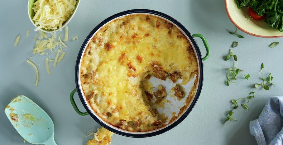 Lasagne med sopp