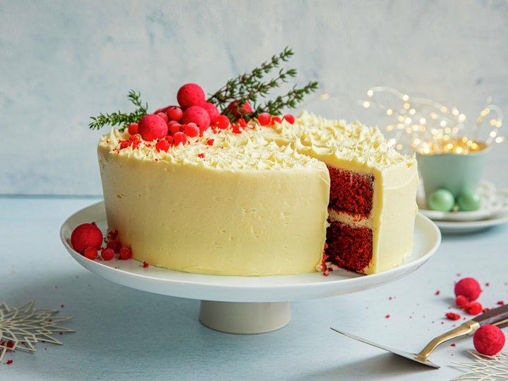 Red velvet cake til jul
