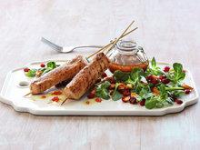 Kalkunspyd med grønn salat og honingglaserte cashewnøtter.jpg