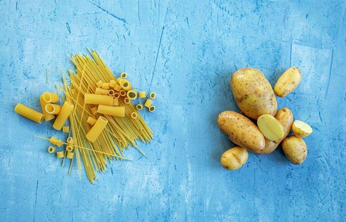 Fin pasta vs. potet