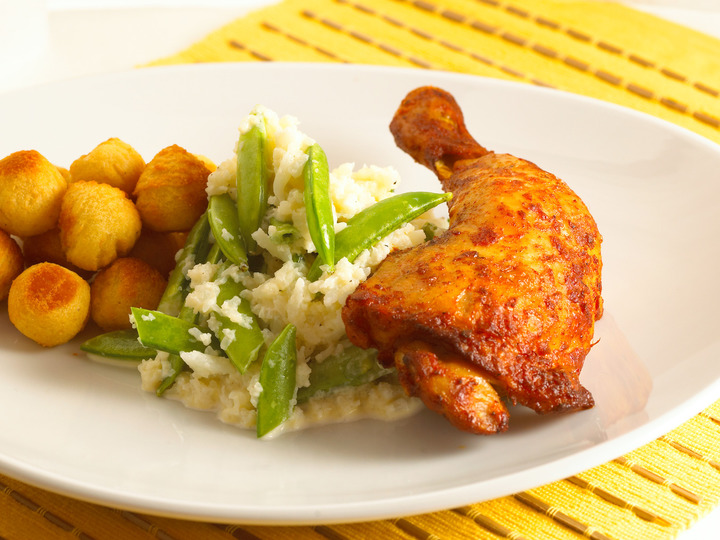 kyllinglår og ris