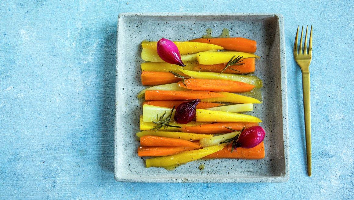 Honningglaserte rotgrønnsaker