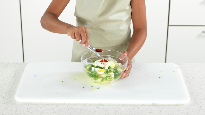 Tortilla med eggesalat