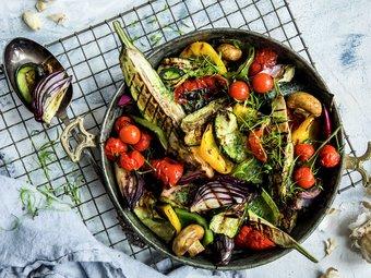 Grillede grønnsaker med urtesmør
