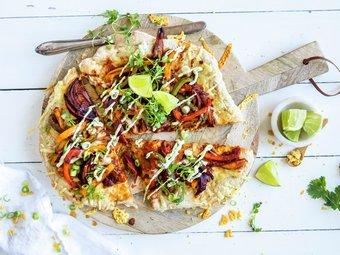 Vegetarpizza med tacosmak