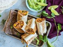 Burritos med kjøttdeig av svin