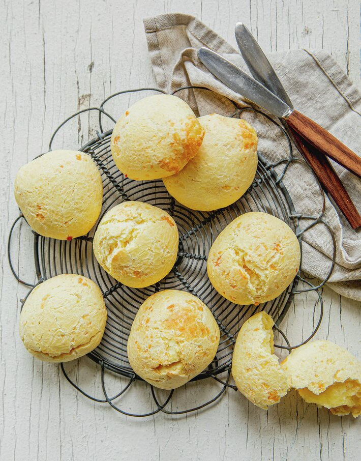 Brasilianske osteboller (Pão de queijo)