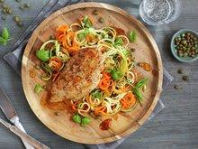 Kyllingfilet med grønn nudelsalat