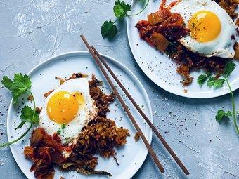 Stekt ris med kimchi