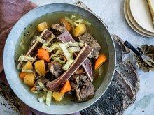 Kjøtt, buljong og margbein
