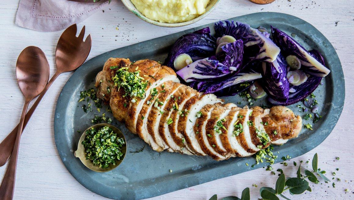 Helstekt kalkunfilet med hjemmelaget potetmos