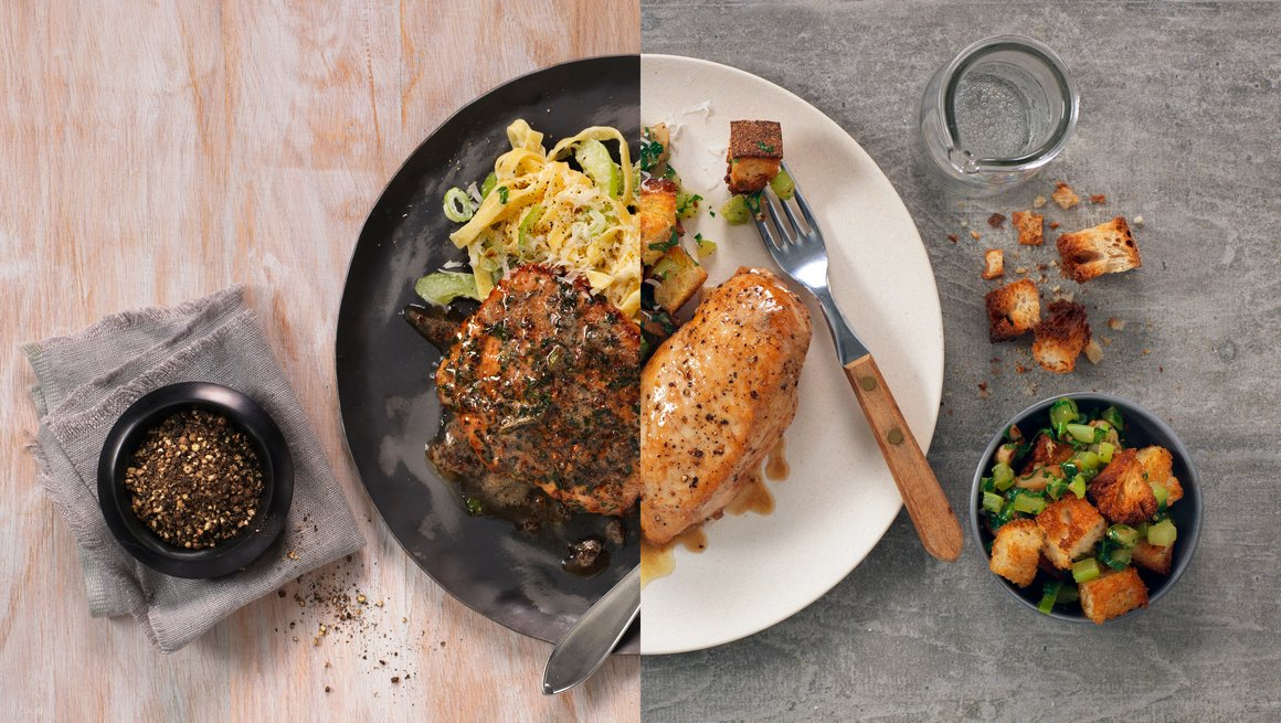 Utreschnitzel og Kyllingfilet