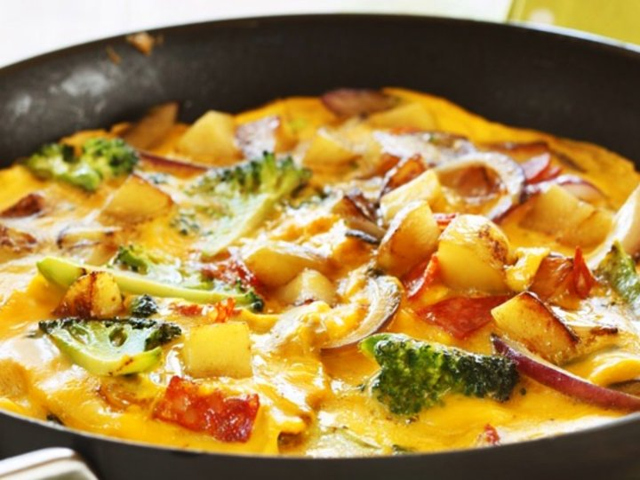 Spansk omelett med chorizo