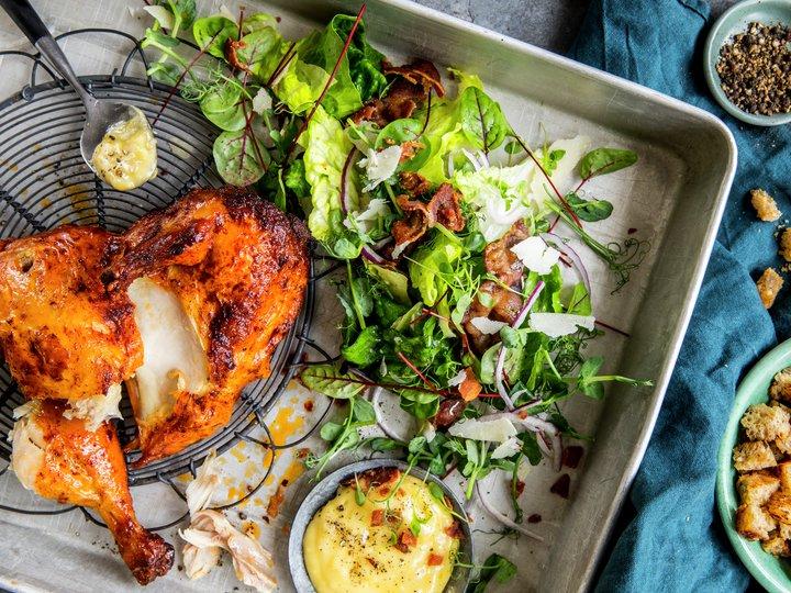 590b6f99 Grillet kylling med cæsarsalat | Oppskrift - MatPrat