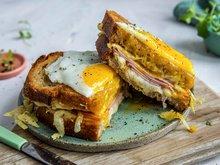 Toast med stekt egg - alternativ 3