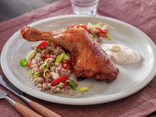 Kyllinglår med byggris og grillet paprika 1.jpg
