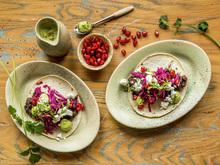 Vegetartaco med bønner - høydebilde
