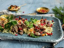Couscoussalat med lammekjøtt