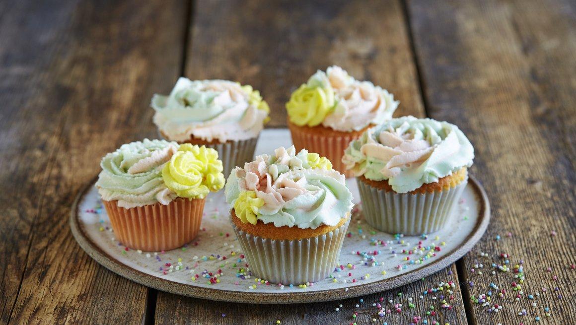 Cupcakes med mascarponekrem