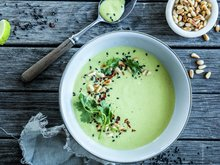 Aspargessuppe med kokos og grønn curry
