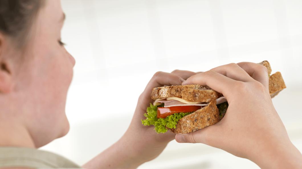 Sandwich med ost og skinke