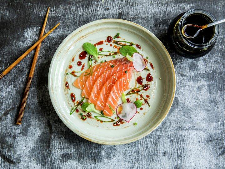 Forrett - Sashimi med soyaglaze
