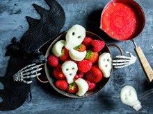 Fruktfigurer til Halloween