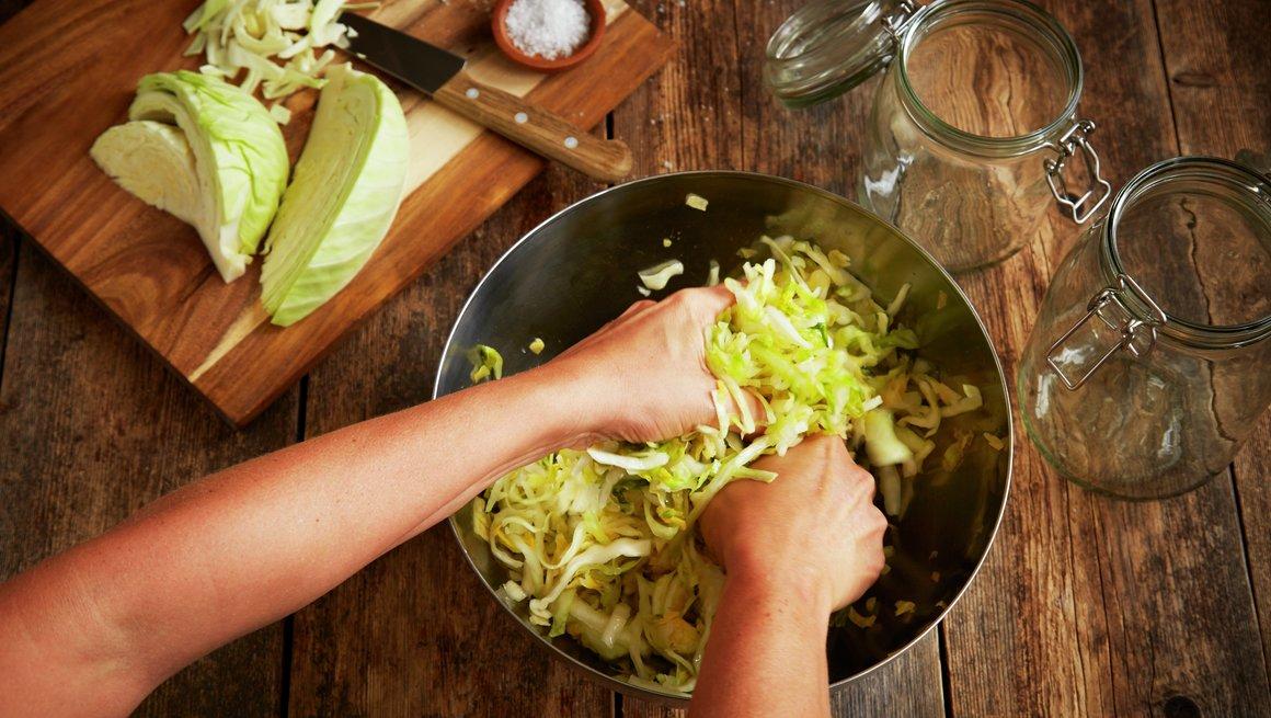 Sauerkraut trinnbilde