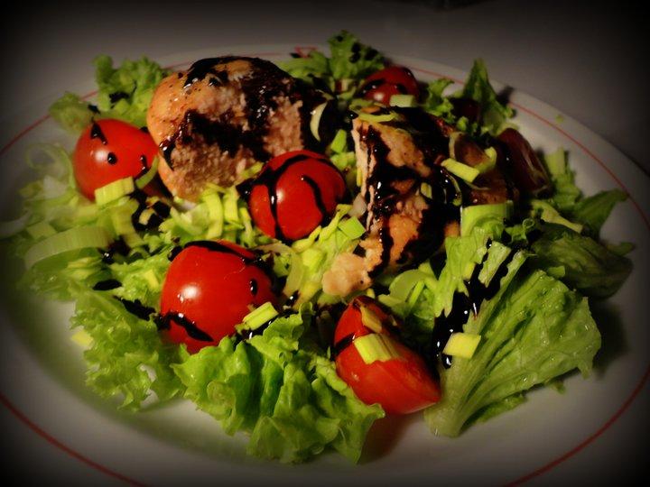 Salat med kylling og balsamico
