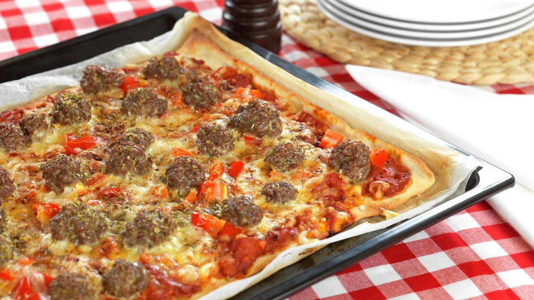 Pizza med kjøttboller - NY