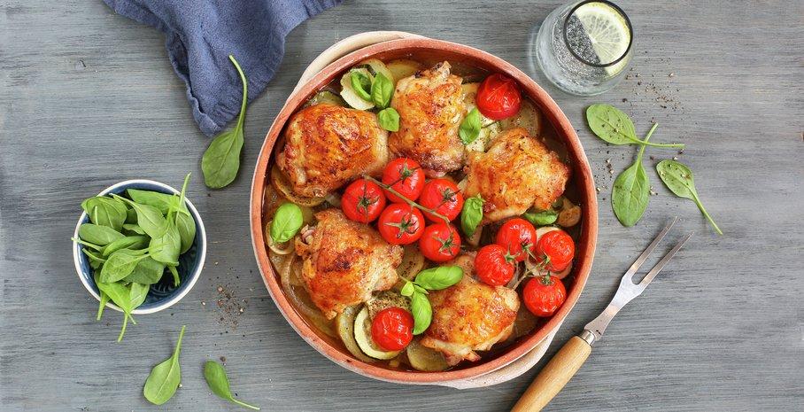 Kyllinglår med cherrytomater