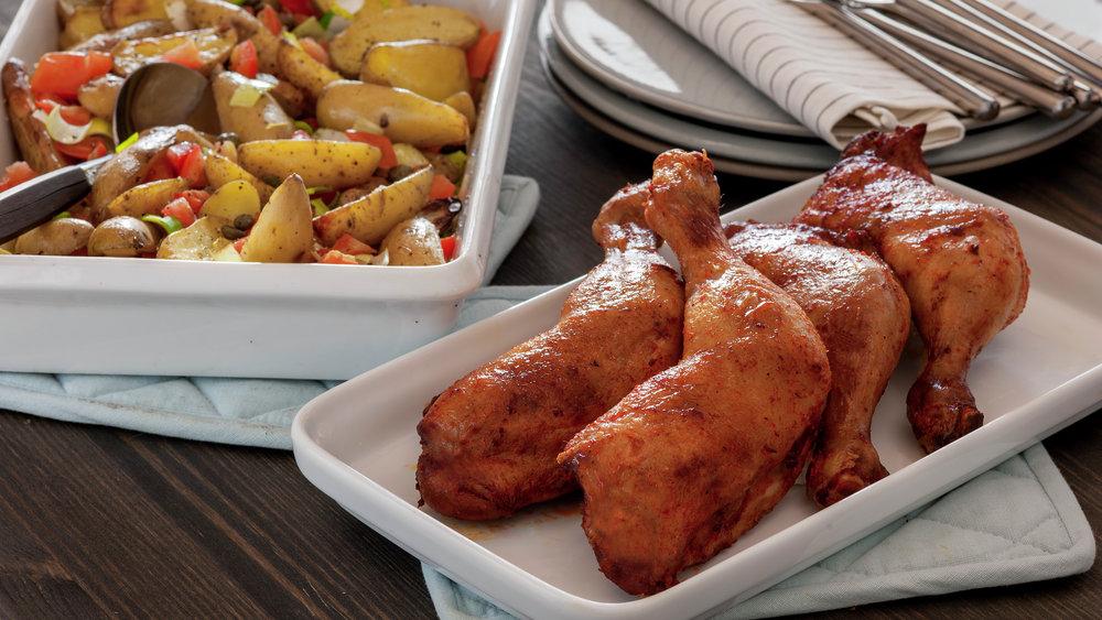 Grillet kyllinglår med lun potetsalat 1.jpg