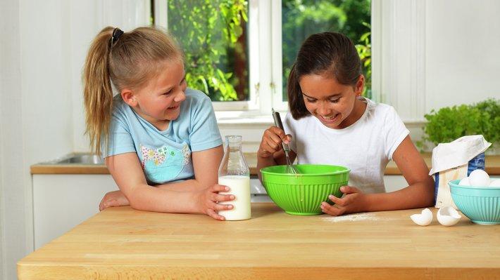 Barn med vaffelrøre