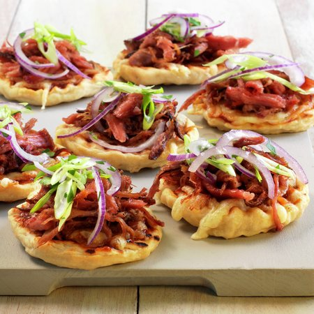 Pulled pork bbq-pizza