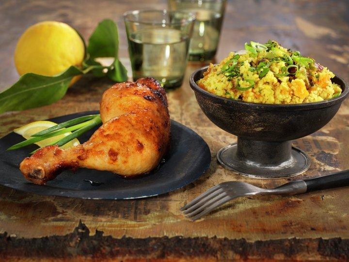 Marinert kyllinglår med couscous