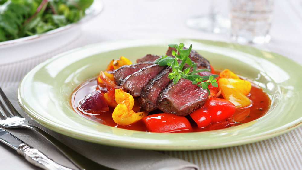 Lammefilet med piperade