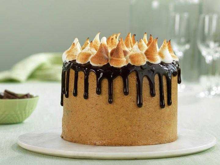 Sjokoladekake med kjekskrem