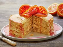 Pannekaketårn med appelsinkrem
