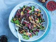 Salat med reinsdyr og linser