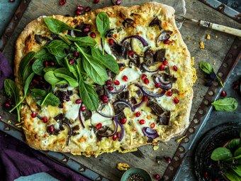 Eltefri pizza med reinsdyrskav