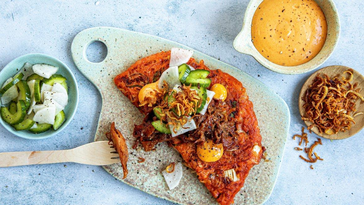 Koreansk BBQ med kimchi