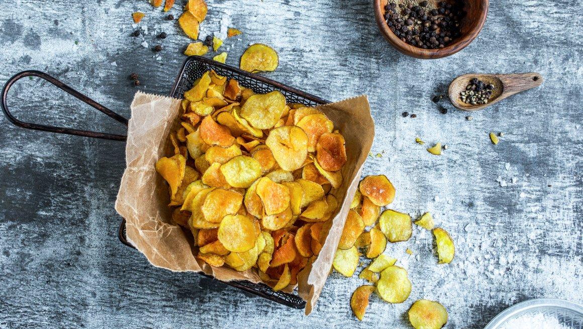 Hjemmelaget potetchips