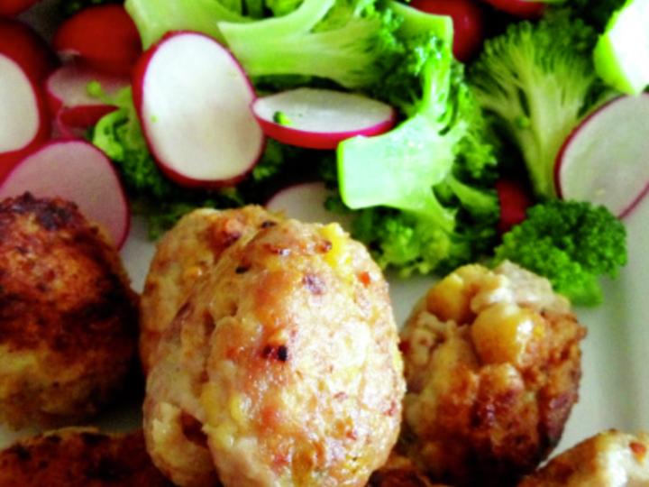 Kyllingkjøttboller med tatziki