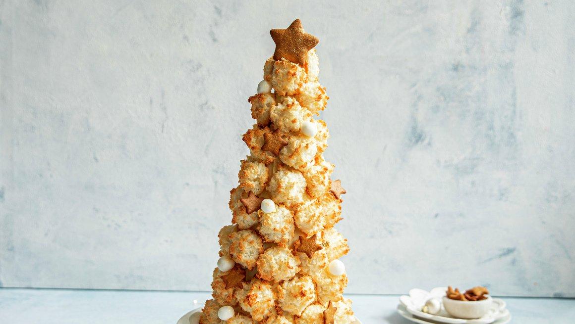 Juledessert av kokosmakroner