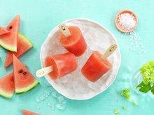 Vannmelonsorbet med lønnesirup og salt