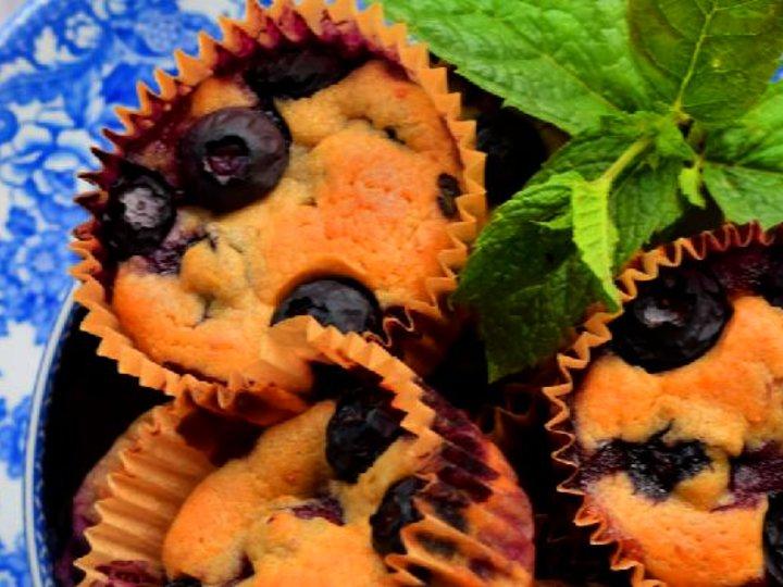Sukkerfrie Blåbærmuffins